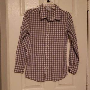 Boys plaid long sleeve button down